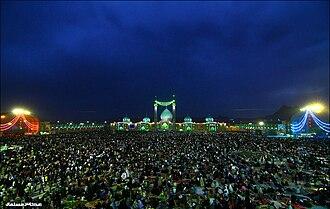 Mid-Sha'ban - Mid-Sha'ban at the Jamkaran Mosque, Qom.