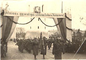 Vincas Vitkauskas - Lithuanian troops, commanded by Vitkauskas, enter Vilnius in October 1939