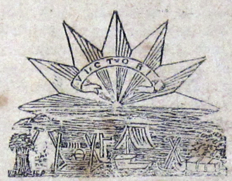 The Star (Ballarat) - Detail of centrepiece of The Star banner (Ballarat) 1 January 1862