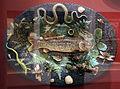 Ceramica palissy, rilievo con pesce, aragosta, lucertole, serpente, conchiglie e insetti, 1820.JPG