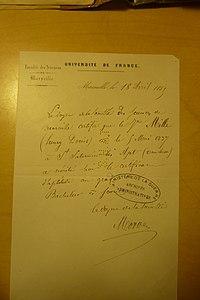 Certificat de baccalauréat scientifique d'Henri Mille.jpg