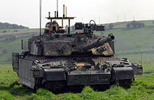 c60eb3f043 Challenger II with armour upgrades to the sides of the turret