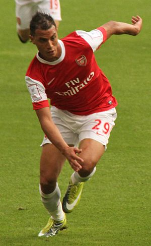 Marouane Chamakh - Chamakh playing for Arsenal   in 2010
