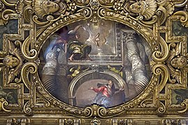Chapel of our Lady of the Rosary of Santi Giovanni e Paolo (Venice) - Annunciation Veronese.jpg