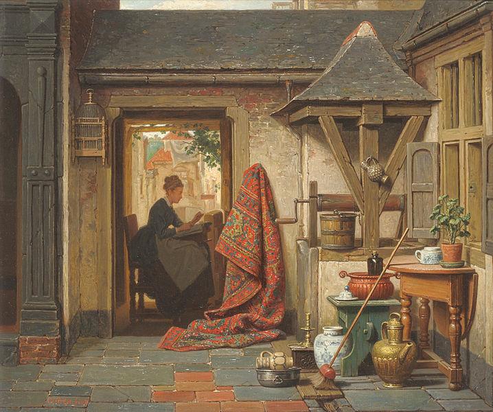 File:Charles Joseph Grips - A Woman at a Loom, 1879.jpg