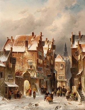 Charles Leickert - Image: Charles Leickert Besneeuwd straatje te Haarlem