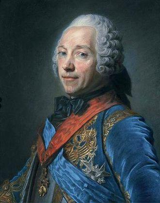 Charles Louis Auguste Fouquet, duc de Belle-Isle - Half-Length Portrait of Charles-Louis-Auguste Fouquet (1684-1761), Maréchal de France and Duc de Belle-Isle by Maurice Quentin de La Tour (exhibited at the Salon of 1748). Private collection.