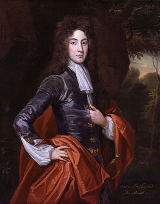 Charles Townshend, 2nd Viscount Townshend - Charles Viscount Townshend, studio of  Kneller. National Portrait Gallery  NPG 1363. Probably painted soon after Townshend entered the House of Lords in 1697, but he does not wear his official robes. This is typical of the Kit-Cat Club portraits, which emphasise the like-mindedness and unity of the members rather than their different social positions