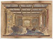 Charlotte Bosanquet - The Library at Dingestow - Google Art Project.jpg