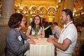 Chatting at LOC Wikimania 2012 Opening Reception 7.jpg