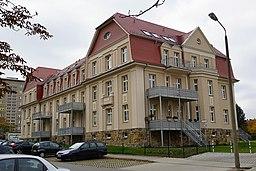 Chemnitz, ehemaliges Stabs und Kasernenverwaltungsgebäude, III. Bataillon des Infanterieregimentes Nr. 104, Geibelstraße 214 218