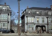 Children in the tenement district, Brockton, Mass