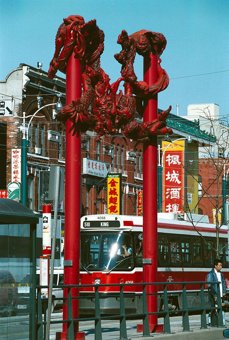 street scene in chinatown toronto