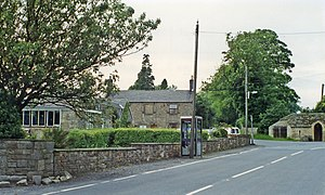 Chollerton railway station - The site of the station in 1997