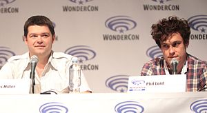 Phil Lord and Christopher Miller - Miller (left) and Lord (right) at the 2015 WonderCon