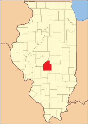Christian County, Illinois - Image: Christian County Illinois 1839