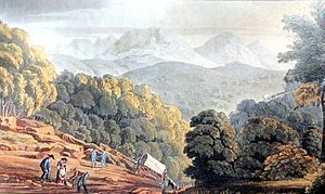 Christian Ignatius Latrobe - The Trek-aan-Touw approach east of George, South Africa 1816