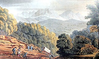 Christian Ignatius Latrobe - The Trek-aan-Touw approach east of George, South Africa 1816