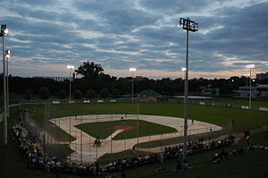 Christie Pits - Image: Christie Pits dusk baseball