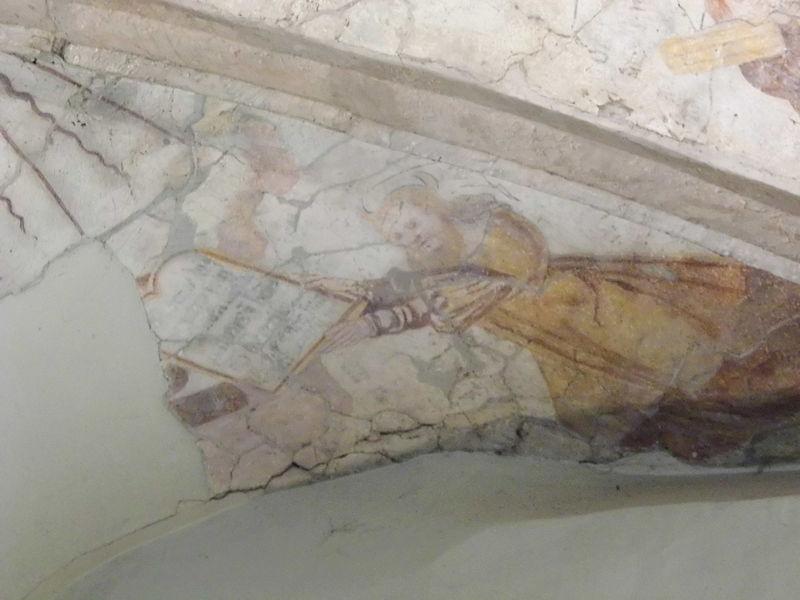 Fresk um Plafong: De Moses kritt d'Gesetztafelen