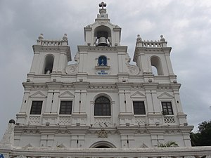 Baroque architecture - During the Portuguese colonization of Goa, India brought about many churches with baroque architecture (Our Lady of the Immaculate Conception Church).