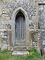 Church of the Holy Cross, Goodnestone - tower door in tower south.jpg