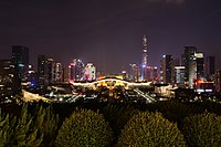 Civic Center, Shenzhen Lianhuashan Park (2018.9) Night.jpg