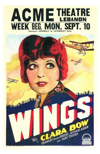 Wings (1927 film) - A poster advertising the film