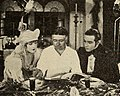 Clarence Brown with Vilma Banky & Rudolph Valentino on the set of The Eagle.jpg