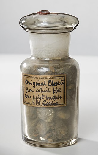 Helium - The cleveite sample from which Ramsay first purified helium.
