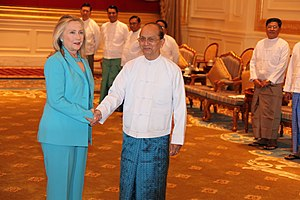 Foreign relations of Myanmar - US Secretary of State Hillary Clinton travels to Burma to promote democratic reforms