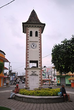 French style clock tower at entrance of municipal seat