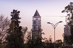 Landmarks in Tirana - The Clock Tower