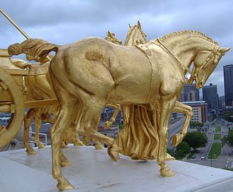 Progress of the State - A closeup of the horses