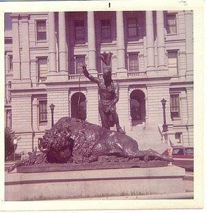 Colorado State Capitol - Image: Closing of an Era statue in Denver, CO