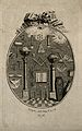 Collection of freemasons' symbols, from architectural instru Wellcome V0007703.jpg