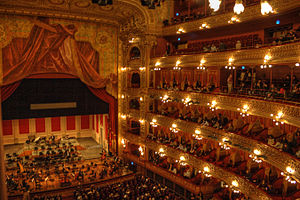 English: Interior of the Teatro Colón in Bueno...