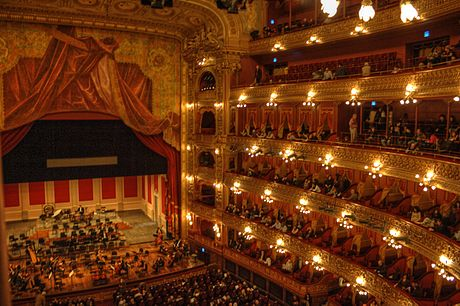 Teatro Colón, it is ranked the third best opera house in the world. Colon-interior-escenario-TM.jpg