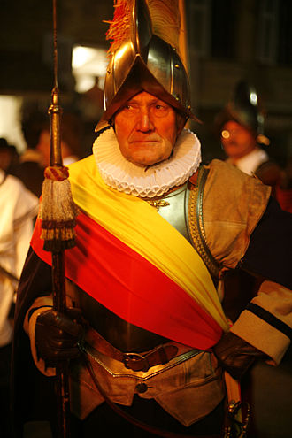 Compagnie de 1602 - the chief of pikemen in the Parade