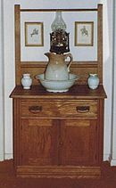 Exceptionnel A Washstand With Pitcher (jug) And Towel Rack, Sometimes Known As A Commode.