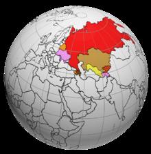 Страны снг на карте мира