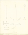 Comparison draught between the anchor design of Perring's, Lt. Roger's, and a new anchor RMG J0551.png
