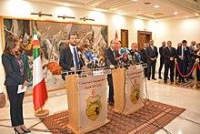 Il ministro Salvini con il suo omologo tunisino Hichem Fourati nel settembre 2018