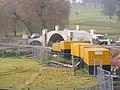 Construction of new bridge over the lake at Heveningham Hall - geograph.org.uk - 1168999.jpg