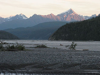 Chitina, Alaska - Copper River near Chitina.