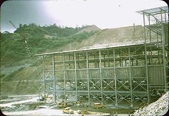 Panguna mine - Image: Copper ore concentrator undergoing construction. Mill building. 2 c. 1971