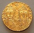 Costantinopoli, solido di costantino v e leone iv, 751-775.jpg