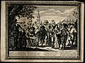Country dance, performed by villagers. Engraving by Abraham Wellcome V0049745.jpg