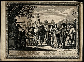 Country dance - A village country dance - engraving by Abraham Bosse, 1633.