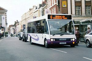 Courtney Buses - Optare Solo in Borough Bus livery on route 6 in Windsor in August 2006